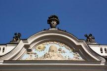 Dettaglio di frontone - Praga