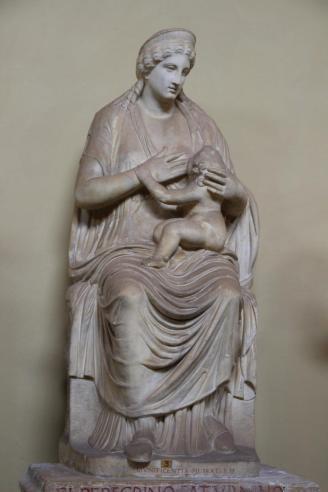 La Dea Iside allatta Arpocrate (I sec. d. C.) — Musei Vaticani, Roma