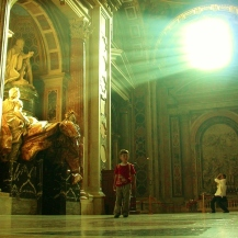 Monumento funebre per Alessandro VII in San Pietro (G. L. Bernini)