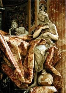 Particolare del monumento funebre per Alessandro VII in San Pietro (G. L. Bernini)