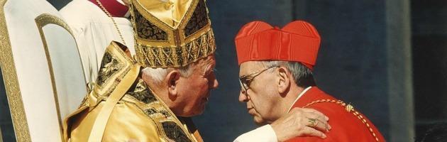 Papa Giovanni Paolo II e il cardinale Bergoglio