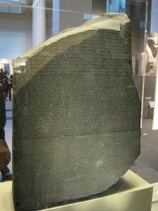 La Stele di Rosetta (British Museum di Londra)